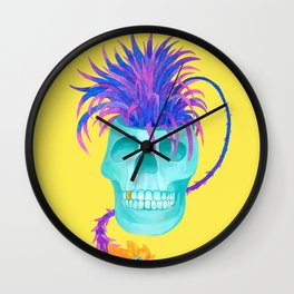 Rad cool skull Wall Clock