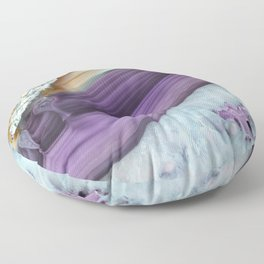 Purple Agate Slice Floor Pillow