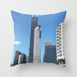 Chicago Historic Skyline Throw Pillow