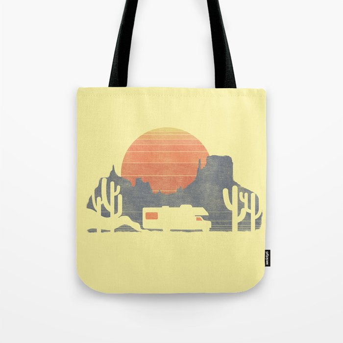Trail of the dusty road Tote Bag