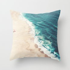 Beach Nazare Throw Pillow