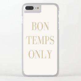 Bon Temps Clear iPhone Case