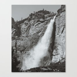 Yosemite Upper Falls (B&W) Canvas Print