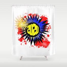 2020 Comic Bang Shower Curtain