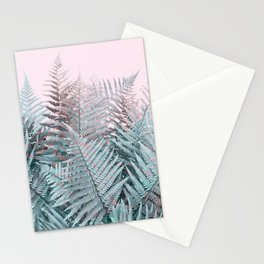 Duotone Fern Jungle on Soft Pink Stationery Cards