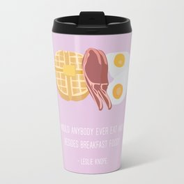 Leslie Knope Loves Breakfast Food Travel Mug