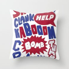 Superpop Throw Pillow