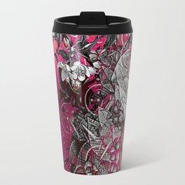 Pink Chinese Silk Travel Mug