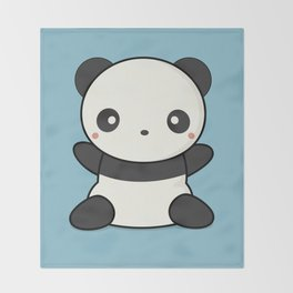 Kawai Cute Hugging Panda Throw Blanket