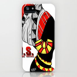 Black Queen (red) iPhone Case
