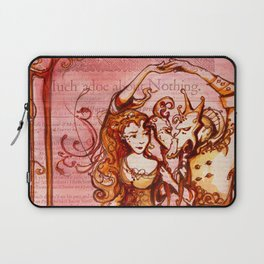 Much Ado About Nothing - Masquerade - Shakespeare Folio Illustration Laptop Sleeve
