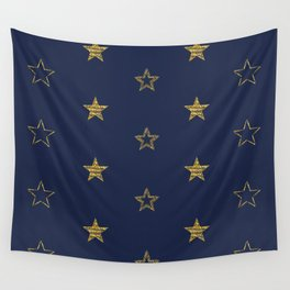 Golden Dust Stars | Pattern Art Wall Tapestry