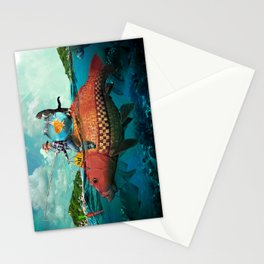 Fish Taxi Stationery Cards