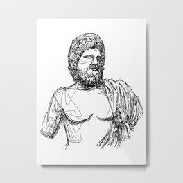 Asclepius Greek God Metal Print
