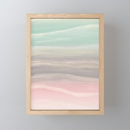 Pastel Watercolor Waves Abstract #1 #painting #decor #art #society6 Framed Mini Art Print