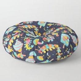 Jelly Polychaete worm - dark Floor Pillow