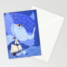 A Friendly Sea Monster Stationery Cards