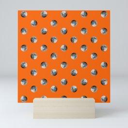 Lunar Moon - orange Mini Art Print
