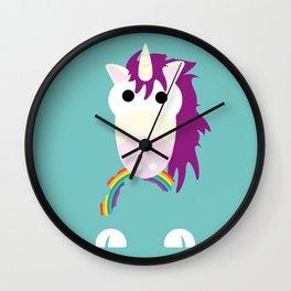 Minimal Unicorn Blue Wall Clock