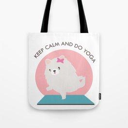Kawaii Yoga Dog Pose Tote Bag