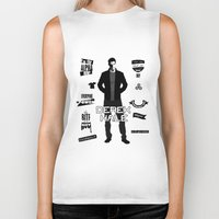 derek hale Biker Tanks featuring Derek Hale Quotes Teen Wolf by Alice Wieckowska