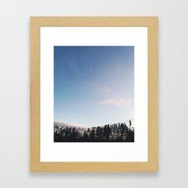 Sunset Stop Framed Art Print