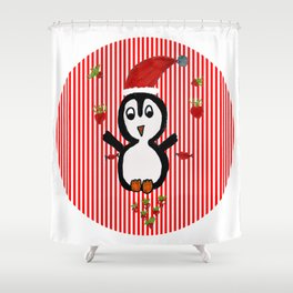 My Penguin | Christmas Spirit Shower Curtain