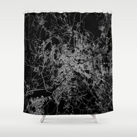 rome Shower Curtains featuring Rome by Line Line Lines