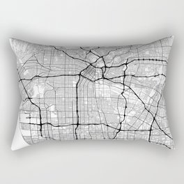 Minimal City Maps - Map Of Los Angeles, California, United States Rectangular Pillow