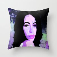 aaliyah Throw Pillows featuring Aaliyah by UnifiedGlory