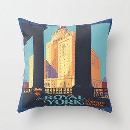 Vintage poster - Toronto Throw Pillow