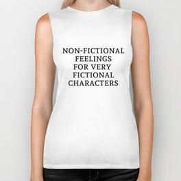 Non-Fictional Feels for Fictional Characters Biker Tank