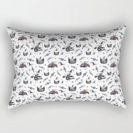 Cats and ravens Rectangular Pillow