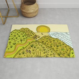 keen for a surf nz surf adventure by surfy birdy Rug