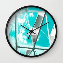 Technicolor Abstract Wall Clock