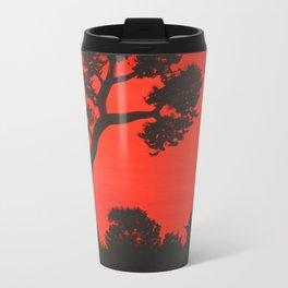 Under the red sky Travel Mug