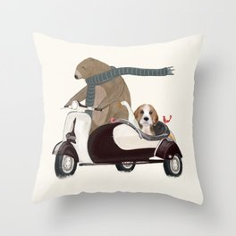 the bear mobile Throw Pillow