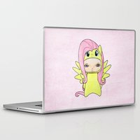mlp Laptop & iPad Skins featuring A Boy - Fluttershy by Christophe Chiozzi