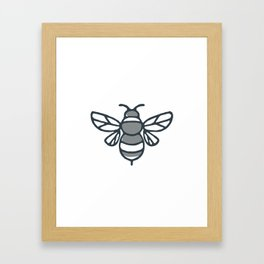 Bumblebee Bee Icon Framed Art Print