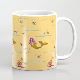 Fashionable mermaid - yellow-orange Coffee Mug