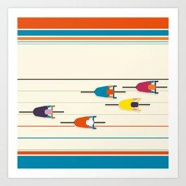 Never stop riding! Art Print
