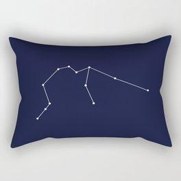 Aquarius Star Sign Deep Blue Rectangular Pillow