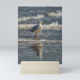 Seagull By The Seashore Mini Art Print
