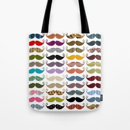 Colorful Mustaches Tote Bag