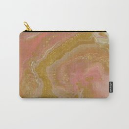 Pink Swirl, Abstract Fluid Acrylic Carry-All Pouch