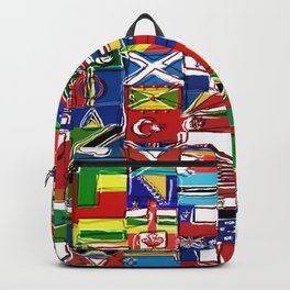 Sketchy World Flags Backpack