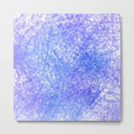 Bright Blue Purple Abstract Painting Metal Print