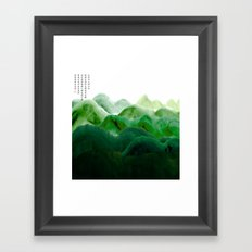 山秀谷 Framed Art Print