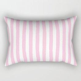 Pink and White Cabana Stripes Palm Beach Preppy Rectangular Pillow