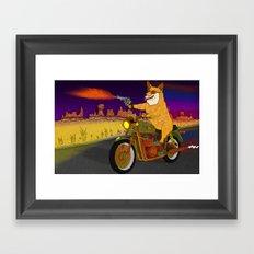Corgi Killa Framed Art Print